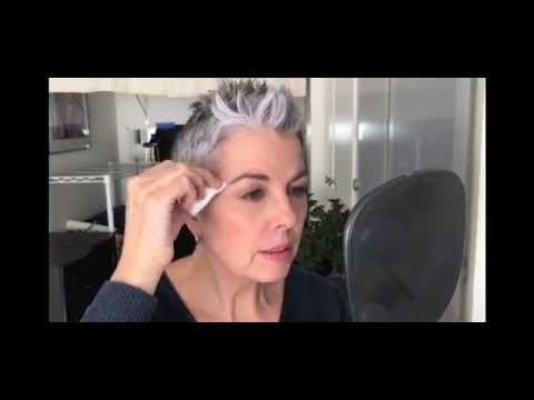 """Quick Eyebrow Color - Tint Grey Hairs Using """"Just for Men"""""""