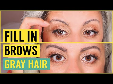 FILLING IN SPARSE BROWS FOR GRAY HAIR I MARYAM REMIAS