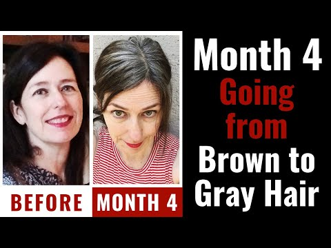 Go Gray Cold Turkey: My Gray Hair Transition Month 4