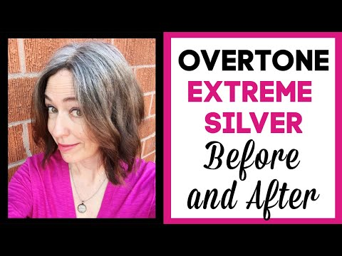 Gray Hair Products Review! Does Overtone Extreme Silver Work on Brown Hair?