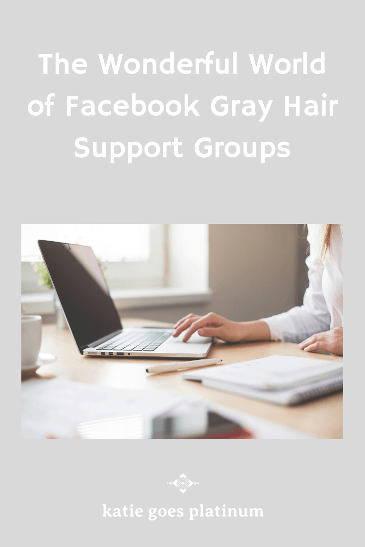 Need help or encouragement for your gray hair transition? Check out these wonderful Facebook gray hair support groups to get you started! #grayhair #goinggray