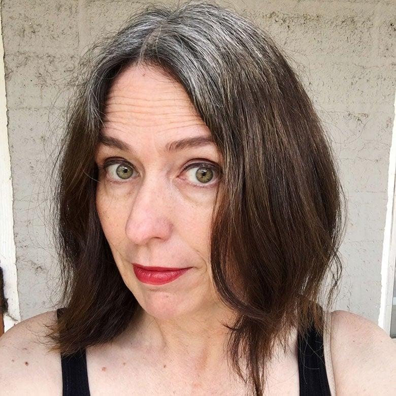 brunette blue shampoo results