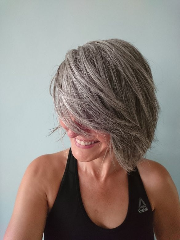 July 2018 Sandrine Gray Hair Transition