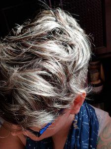 toned gray hair short