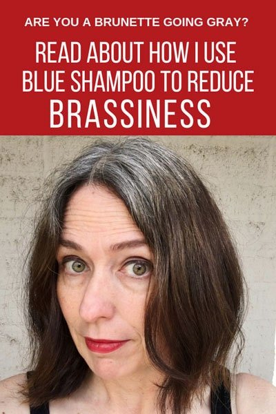 One of my fellow silver sisters recommended that I try blue shampoo to get rid of my