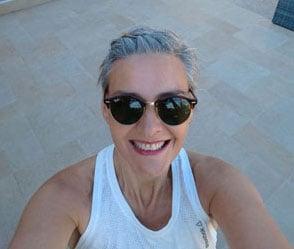 image of woman short gray hair