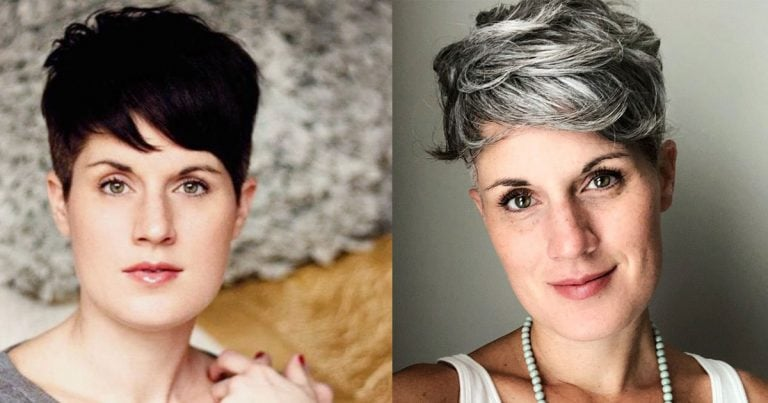 Marci's Stunning Transition to a Silver Pixie