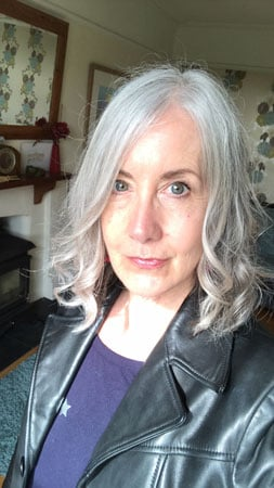 image of curly gray hair louise pendry