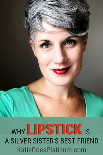 I've been in a love affair with lipstick since I was about 13. I love makeup, and I have no intention of giving it up now that I've embraced my gray hair.  I got some flak for that the other day, so I wrote this post to muse on how and why women judge other women and being confident in our own decisions.  #lipstick #grayhair #grayhairtransition