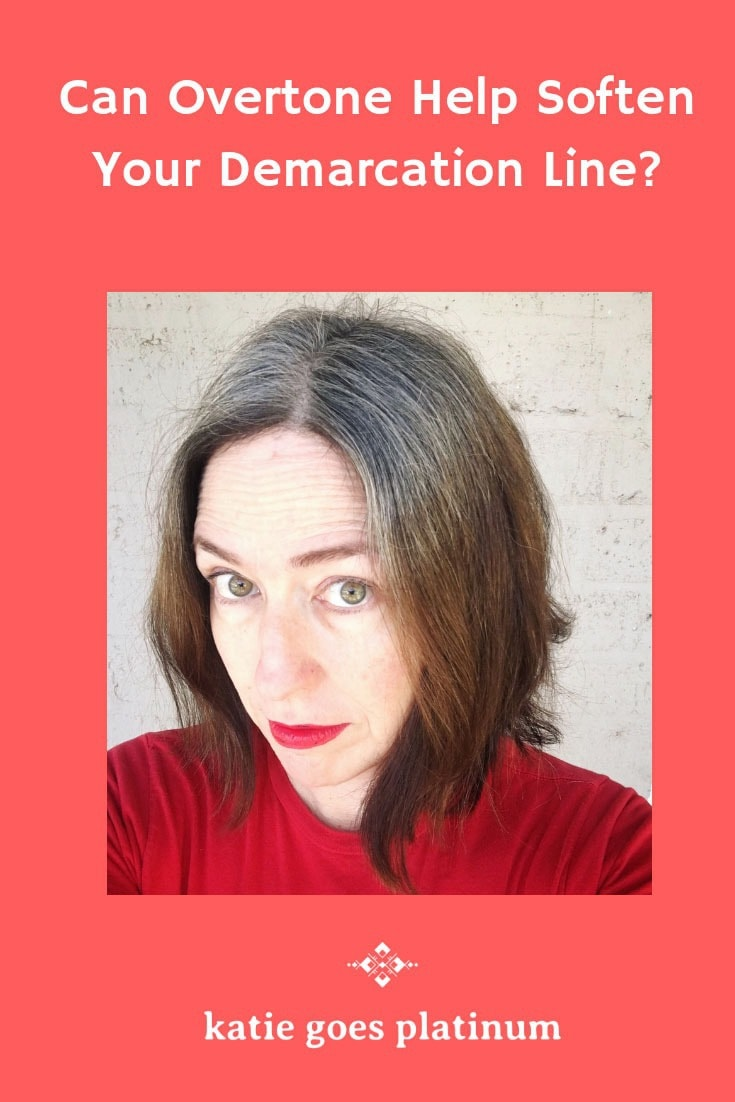 Can Overtone soften the demarcation line for women who are transitioning to their naturally gray hair? I decided to try it and find out!  Watch my video and read my review at katiegoesplatinum.com .#grayhair #grayandproud #grayhairtransition