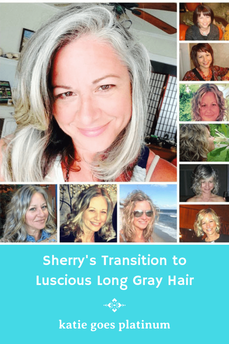 When Sherry turned 50, she decided to begin ditching the toxins out of her life, including those found in hair dye.  The results (for her life and her hair) have been fabulous. You'll love her natural, long silver hair and her positive outlook on life in your 50s!
