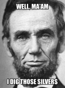 image of Abe Lincoln Gray Hair Meme