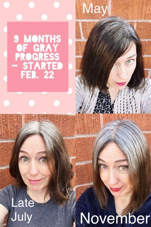 My 9 month gray hair transition update and my experience going gray cold turkey!