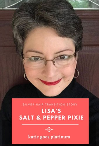 Lisa transitioned to salt & pepper this year, and she looks fantastic! She discusses her transition and how it has affected her life and her tastes.