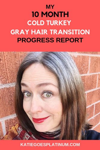 It is hard to believe it is already time for my 10-month cold turkey gray hair progress report! I share my routine and thoughts about going gray in this post. Please stop by the blog and check it out!  #grayhair  #silversisters #grombre