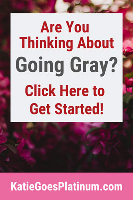 On this page, you'll find gray hair resources such as bloggers, YouTubers, products, and more! It's a great place to start your gray hair journey! Check it out and keep coming back, as I'll be updating it frequently
