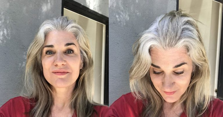 Kim's Beautiful Transition to Gray Hair