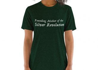 founding mother of silver revolution t-shirt forest green