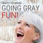 image woman having fun gray hair