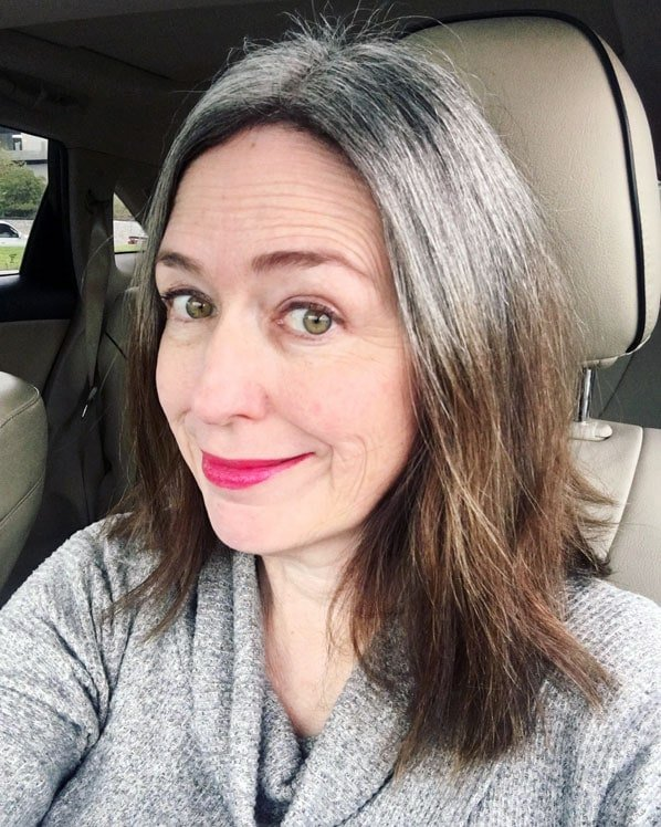 My gray roots are coming in nicely after 11 months into my gray hair transition.