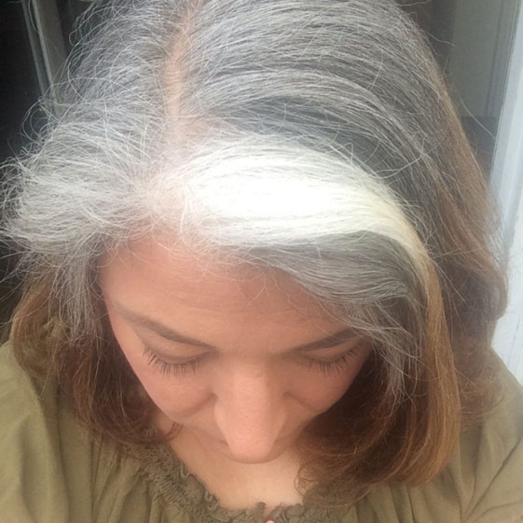 Andrea loves the self-confidence boost she feels from going gray