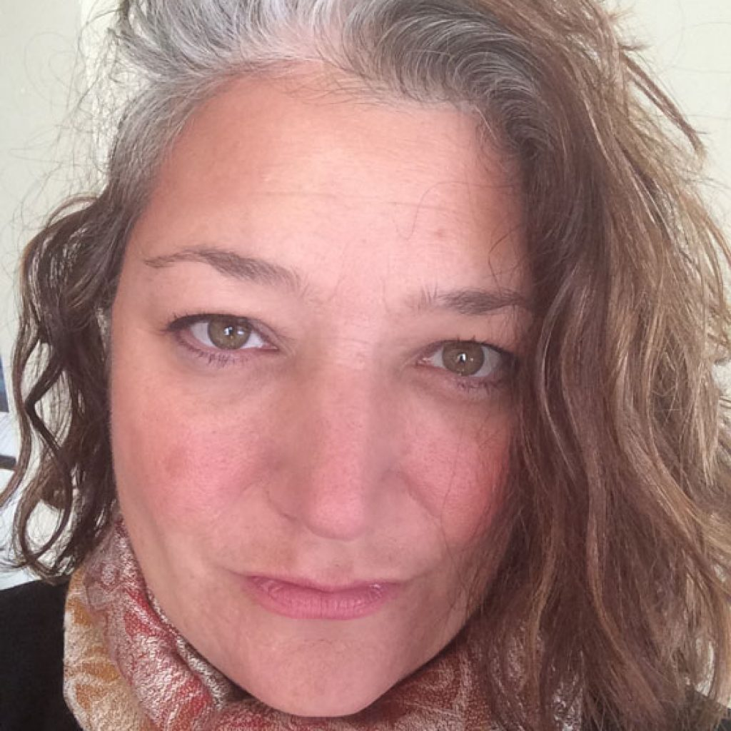 Andrea is a self-confident silver sister, embracing her all natural gray hair
