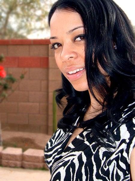 image of beautiful woman long black hair