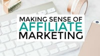 image of making sense of affiliate marketing in blogging resources