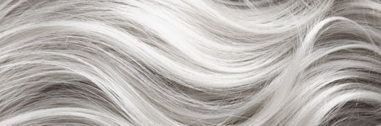 naturally gray hair has a healthier texture and fullness