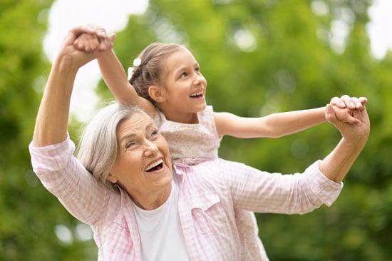 image of grandma and grandchild