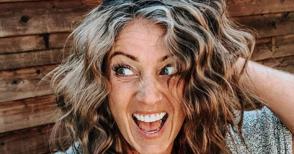 image of woman fun grey hair