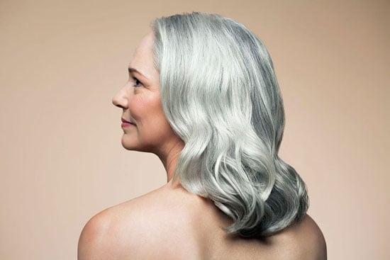 Judith Davis with lovey, wavy silver hair