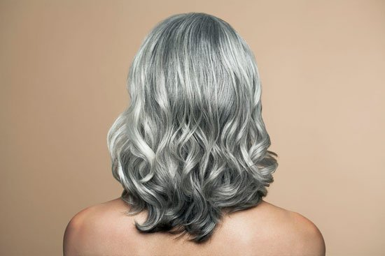Judith Davis with lovely long silver curls