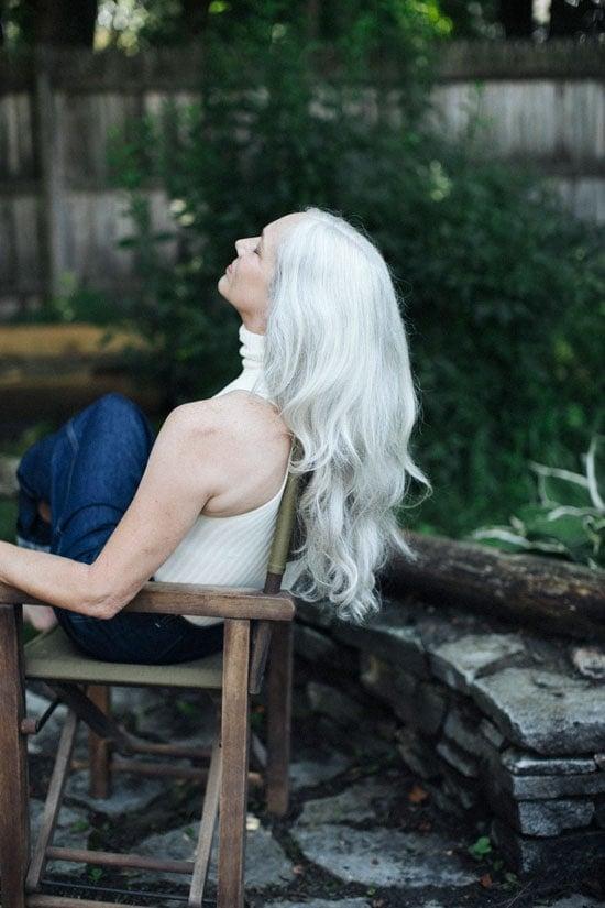 Model Judith Davis shares her gray hair transition story