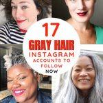 image of gray hair instagram women