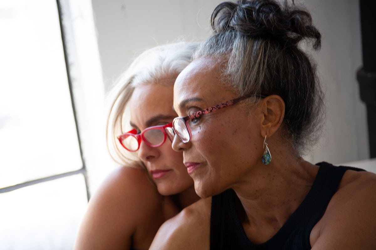 image of two gray haired women