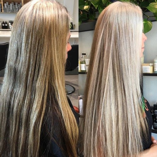 image of going gray at the salon