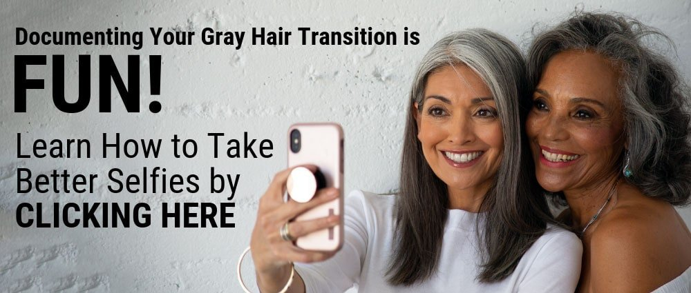 image of gray hair selfie