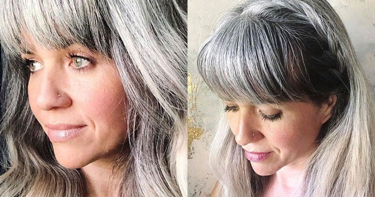 How do i let my hair go gray