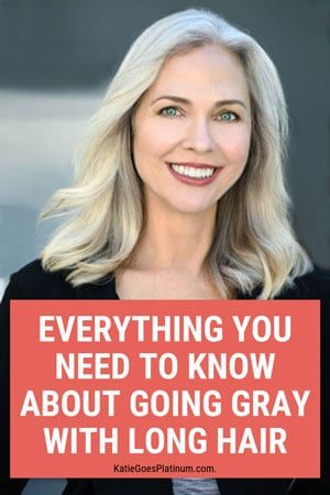 Everything you need to know about going gray with long hair