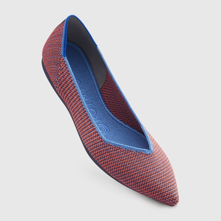Colorful flats are a stylish gift for women who have gray hair