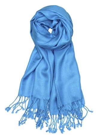image of blue scarf