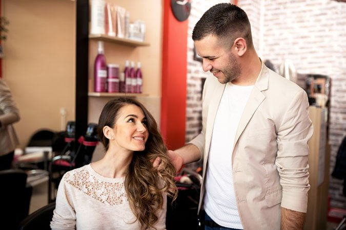 image of stylist and woman