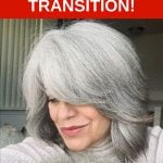image of michele's journey to gray hair