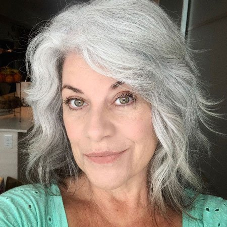 image of woman with lovely gray hair