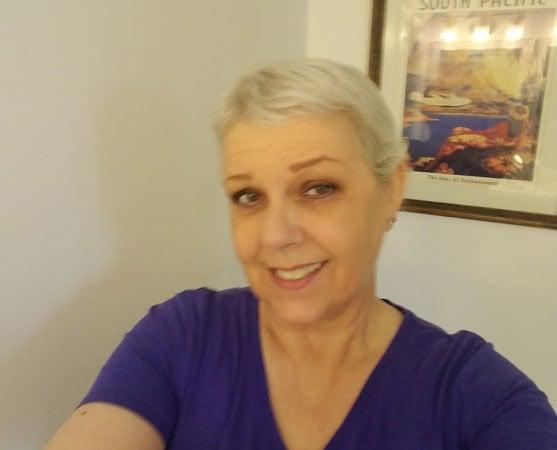image of woman natural gray hair