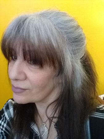 image of woman cold turkey hair growout