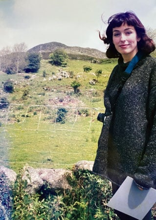 image of woman in ireland with dark hair