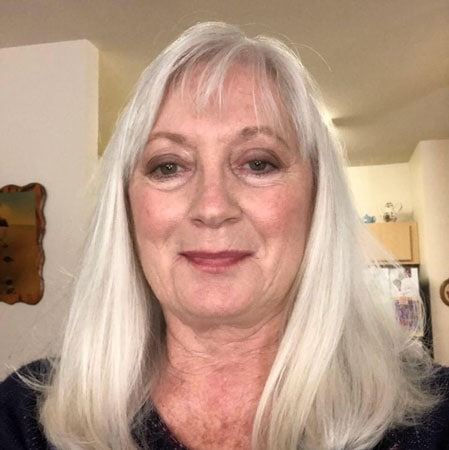 image of woman natural gray hair after cancer