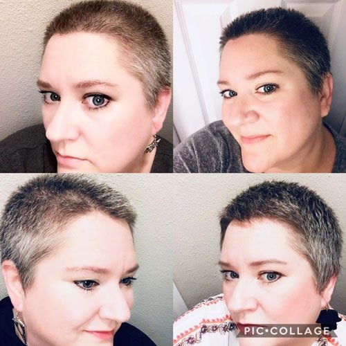 image of woman's short gray hair